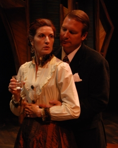 "Catherine Glynn and Scott Dixon in ""Pillars of Society."""